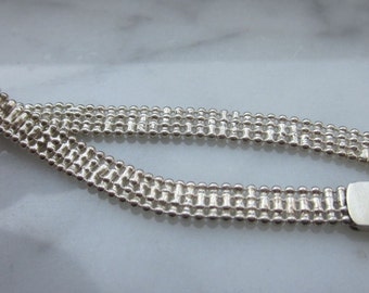 Sterling silver bracelet 925 link bracelet silver bracelet sterling silver band bracelet Italian sterling silver bracelet clearance