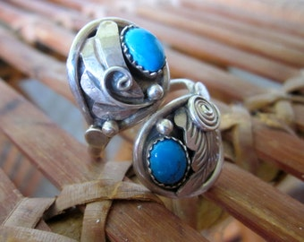 Sterling silver turquoise ring 925 turquoise ring vintage silver turquoise ring Navajo sterling ring handcrafted turquoise ring clearance