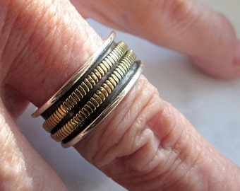 Sterling spinner ring copper spinner ring 925 eternity ring stacking worry fidget wedding band sterling ring clearance copper bands