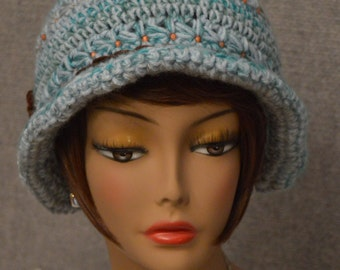 Womans Cloche Hat in Blue