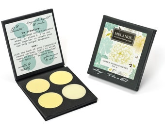 Green Notes No. 2: Melange Solid Perfume Blending Palette. Four hand-poured perfumes. Wear alone or layer.  CRUELTY FREE