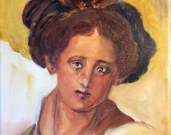 Original Painting.  OOAK.   Pontormo Study