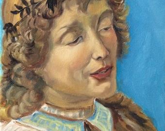 Original Painting.  OOAK.  Study of an Angel