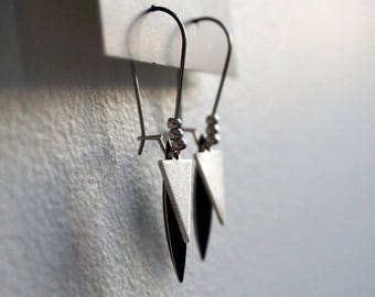 Ava Silver earrings.