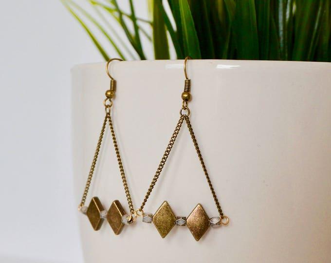 Rasul-brass antique-charm earrings diamonds.