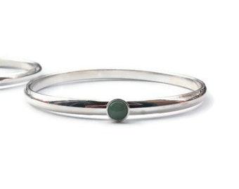 Hopi silver bracelet.