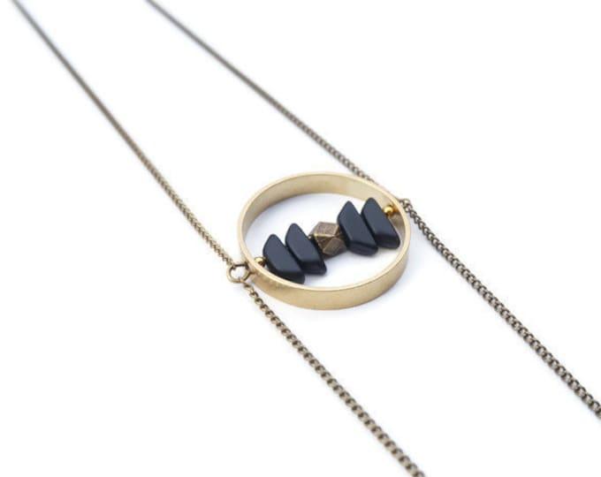 Black Schiprock long necklace.