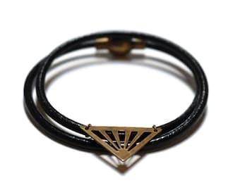 Bronze double triangle bracelet.