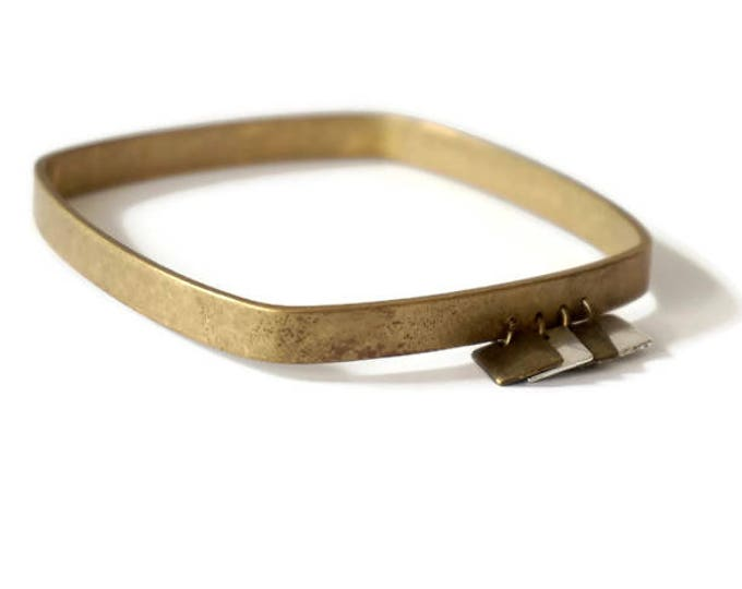 Brass square bracelet antique charms-square