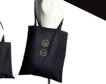 Tote bag jewelry-1 bronze / silver.