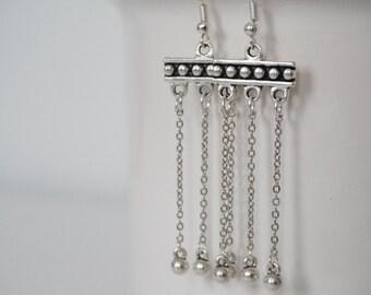 Earrings silver totem.