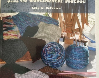"""Self-published BOOK- """"how to: Knitting for Beginners, Using the Continental Method"""", B/W paperback, six lessons knit Continental Luce Knots"""