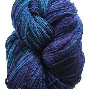 Targhee Wool Silk Hand dyed DK Weight 8 ounce skeins