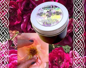 LUSCIOUS ROSE Salty Bath / Body Scrub ~ Sensual Moisturizing Pink Himalayan Salts ~ Almond Oil Tea Rose Petals Geranium Sandalwood Cedar
