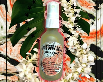 CUTiE SEXY CHiLL Aura Spray ~ Pleasure & Relaxation ~ 4 Home + Body Mood ~ tuberose, lavender, rose geranium, vetiver, clary sage, quartz
