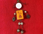 For the Mah Jongg Goddess in your life Madame Mahj 39 s unique MJ doll pin. Demi-parure Vintage Bakelite 2 Crak tile brooch jade earrings