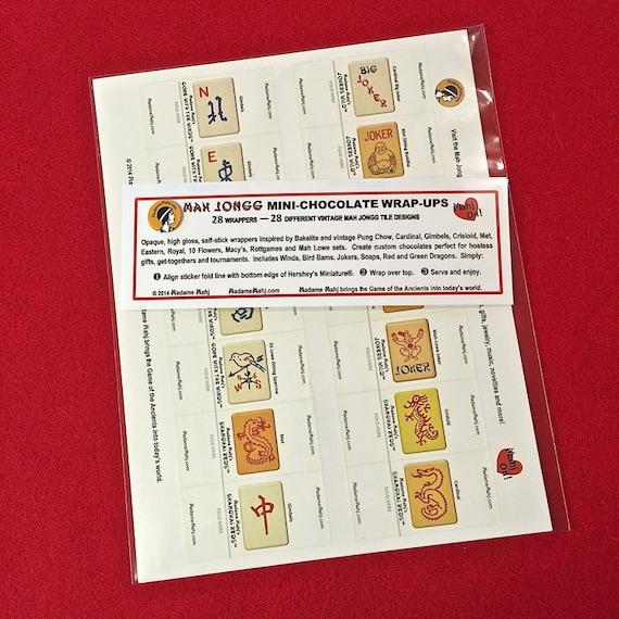 Set of 10 Mah Jongg Joker Stickers Vintage Playing Card Jesters /& Jokers