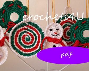 Haakpatroon Kerstboom Met Kerstballen Gehaakte Kerstboom Etsy