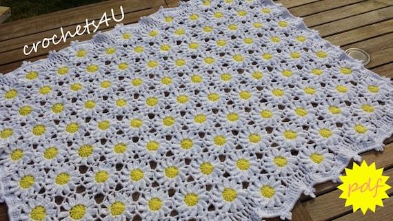 Crochet Pattern Flower Afghan Crochet Blanket Pattern Baby Etsy