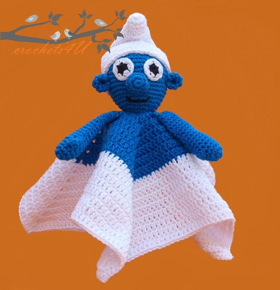 crochet pattern lovey smurf security blanket crochet pattern