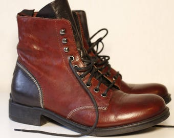 Smith's American Leather Lace Up  Boots. Size 5 UK (38)