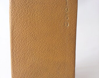 1950 The Plessey Pocket Diary and Reference for 1950. Miniature  Diary Book Calendar  Made in England, London