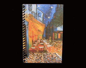 CAFE TERRACE At NIGHT By Vincent Van Gogh - Famous Painting Journal, Diary, Illustrative Notebook, Sketch Book - Custom Orders Welcome