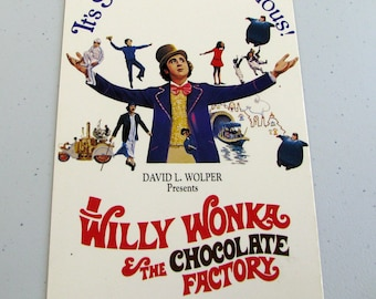 WILLI WONKA & The Chocolate Factory (1971) - Repurposed VHS Sleeve To Unique Notebook, Choose Lined Or Unlined Paper, Great Gift Idea