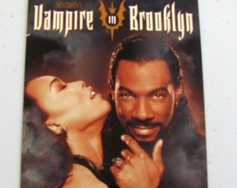 VAMPIRE In BROOKLYN (1995) Repurposed Original VHS Sleeve To Unique Journal, Lined Or Unlined Paper, Sketch Book, Planner, Great Gift Idea