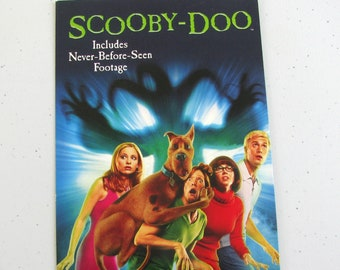 SCOOBY-DOO MOVIE (2002) Repurposed Original Vhs Sleeve To Unique Journal, Lined Or Unlined Paper - Great Gift Idea