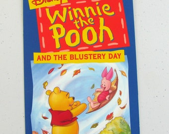 WINNIE The POOH (1968) The Blustery Day Repurposed Original Vhs Sleeve To Unique Journal, Lined Or Unlined Paper, Planner, Great Gift Idea