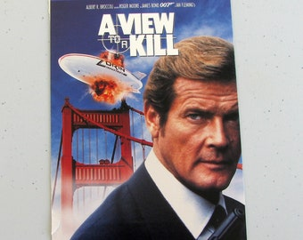 A VIEW To A KILL (1985) - Repurposed Original Vhs Sleeve To Unique Journal, Lined Or Unlined Paper - Great Gift Idea!