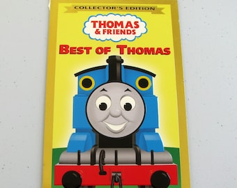THOMAS & FRIENDS Best Of Thomas (2010) Repurposed Original Vhs Sleeve To Unique Journal, Lined Or Unlined Paper - Great Gift Idea