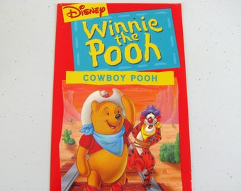 WINNIE The POOH Cowboy Pooh (1994) - Repurposed Vhs Sleeve To Unique Notebook, Choose Lined Or Unlined Paper, Great Gift Idea