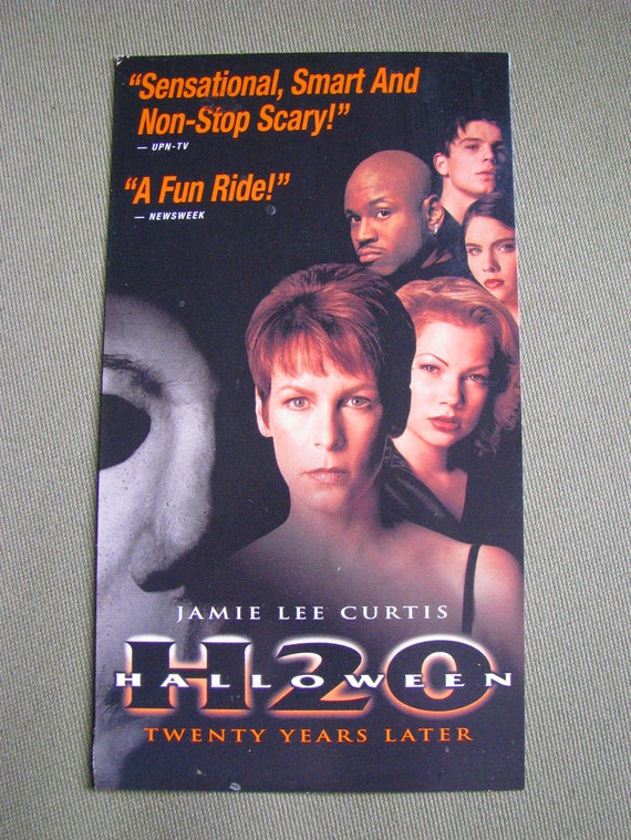 HALLOWEEN H20 20 YEARS (1998) Later Repurposed Original VHs Sleeve To  Unique Journal, Lined Or Unlined Paper, Sketch Book, Great Gift Idea