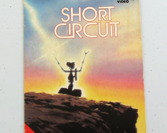 SHORT CIRCUIT (1986) Repurposed Original VHS Sleeve To Unique Journal, Choose Lined Or Unlined Paper, Sketch Book - Great Gift Idea