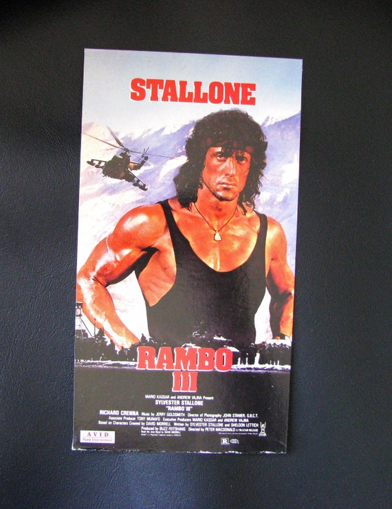 Rambo Iii 1988 Repurposed Original Vhs Sleeve To Unique Etsy