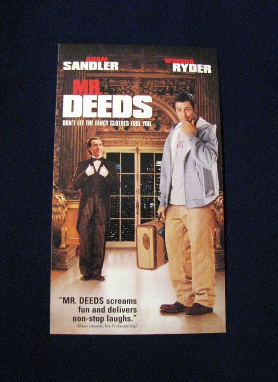 Mr Deeds 2002 Journal Repurposed From Vhs Sleeve Lined Or Etsy
