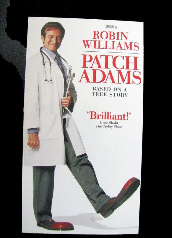 Patch Adams 1998 Repurposed Original Vhs Sleeve To Unique Etsy