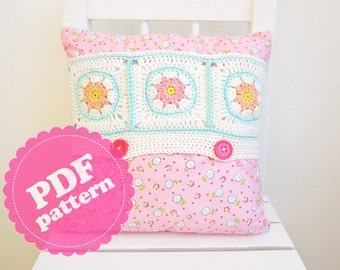 Sewing Tutorial Crochet Cushion Cover ENGLISH