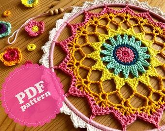Crochet Pattern Tutorial Mandala Rosie Dream Catcher