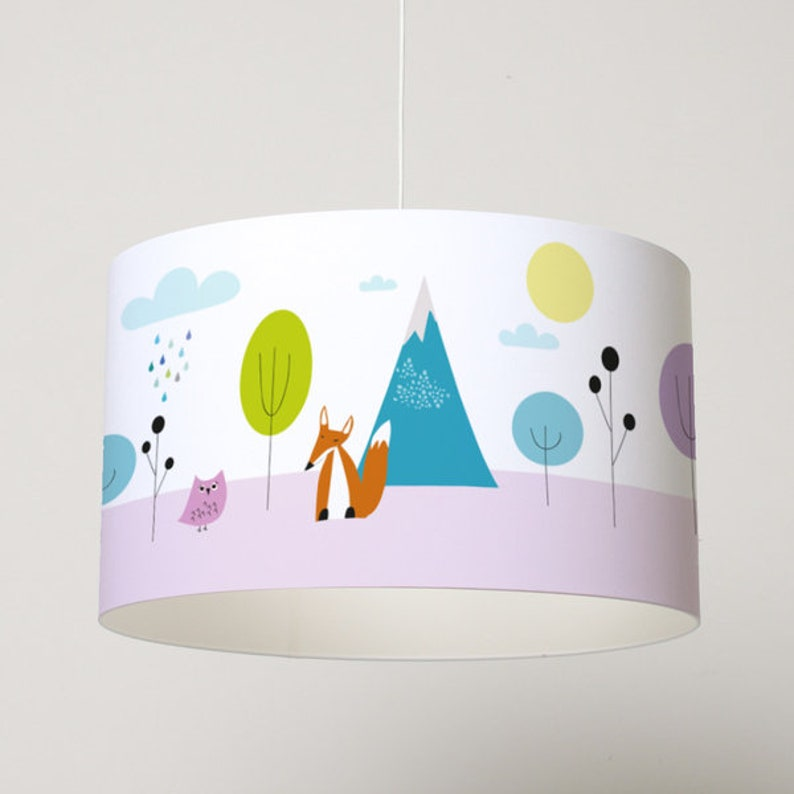 Lampshade Forest Animals image 0
