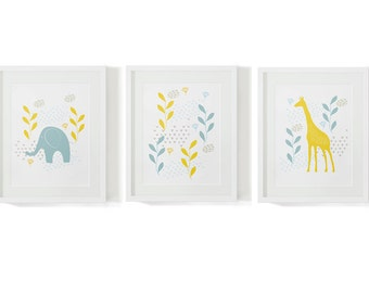 """3 baby room pictures """"Yellow"""""""