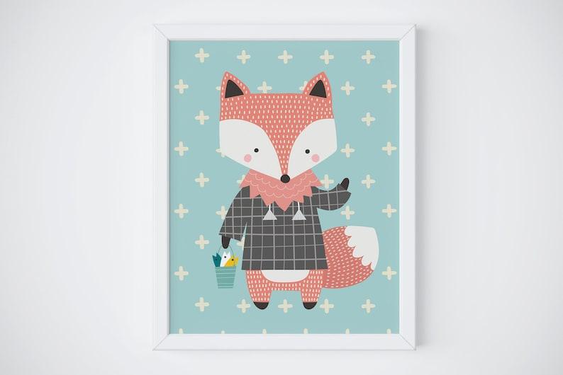 Children's room picture Fox image 0