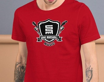 Gone Marshall Musician 'Coat of Arms' Music Logo T-Shirt