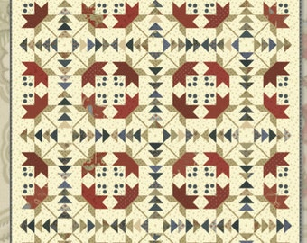 Coastal Lily Quilt Pattern by Minick and Simpson
