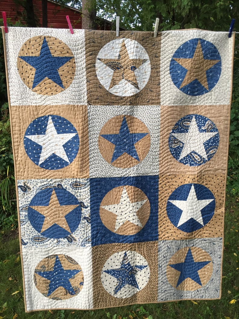 Minick and Simpson Rolling Stars Quilt Pattern DOWNLOAD