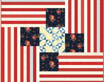 Four Flags Quilt Pattern - Minick and Simpson