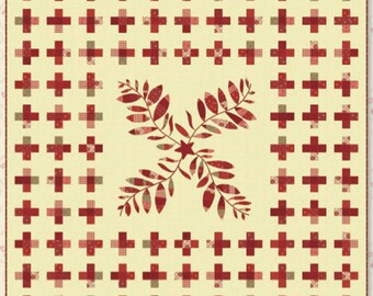 Nightingale Quilt Kit - by Minick and Simpson - Midwinter Reds
