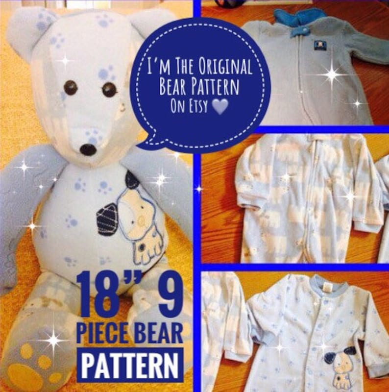 Memory Bear pattern complete instructions PDF format image 0